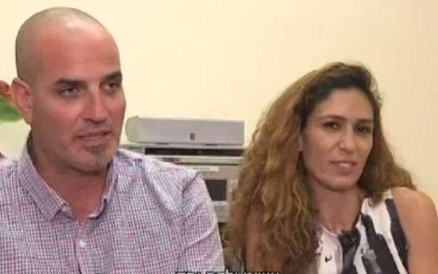 Shahar Abecassis, an Israeli taxi driver, escaped an assassination plot hatched by his ex-wife, an Israeli expat living in Oklahoma, July 7, 2017. (Screenshot/Channel 10)