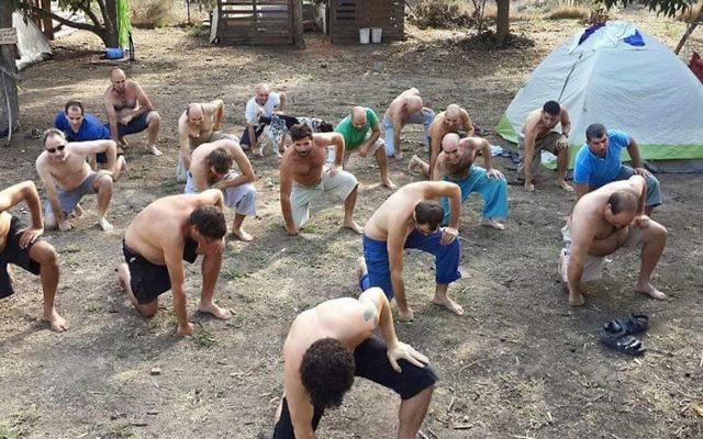 Participants at the Shiva Festival explore alternatives to Israel's sometimes macho society. (Courtesy of the Shiva Festival via JTA)