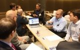 Israeli startups meet with potential clients and partners during a healthcare conference in St. Louis, Missouri, June 28,2017. (Courtesy)