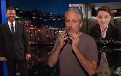 Jon Stewart on Jimmy Kimmel Live, July 13, 2017 (YouTube screenshot)