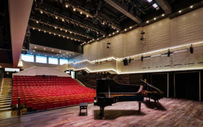 The Elma Hall, the 450-seat performance space, is considered one of the country's best concert halls (Courtesy Elma)