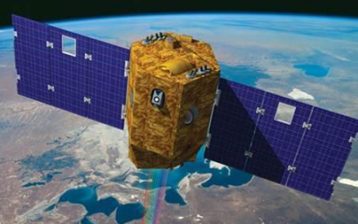 Artist's rendering of the Venμs satellite, Israel's first environmental research satellite, set to launch on August 2, 2017. (Israel Space Agency)