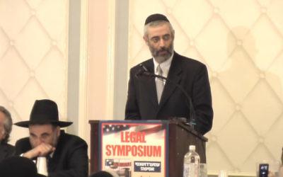 Rabbi Chaim Dovid Zwiebel, executive vice president of the Agudath Israel of America, in 2010. (Screenshot YouTube)