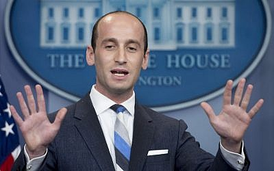 US President Donald Trump's senior adviser for policy Stephen Miller speaks during a daily briefing at the White House on August 2, 2017 (AFP Photo/Jim Watson)