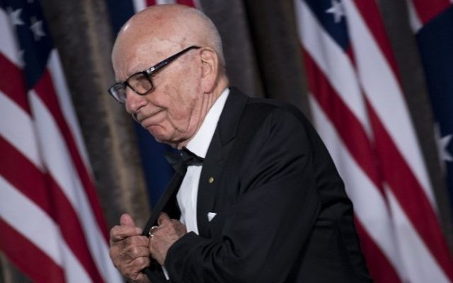 This file photo taken on May 4, 2017, shows Rupert Murdoch at a dinner the Intrepid Sea, Air and Space Museum in New York. (AFP Photo/Brendan Smialowski)