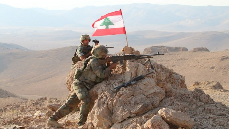 17 2017 during a tour guided by the Lebanese army shows soldiers holding a position in a mountainous area near the eastern town of Ras Baalbek during an operation against jihadist fighters