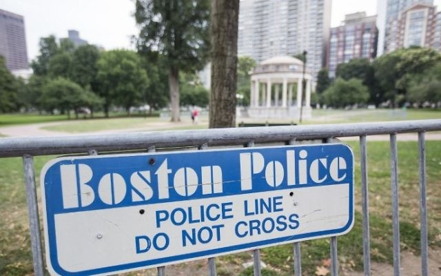 Barricades set up on the Boston Common where a 'Free Speech' rally is scheduled and a large rally against hate in solidarity with victims of Charlotestville will converge Saturday, on August 18, 2017 in Boston, Massachusetts. (Scott Eisen/Getty Images/AFP)