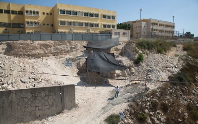 General view of the excavation site at Reina in Lower Galilee. (Samuel Magal/IAA)