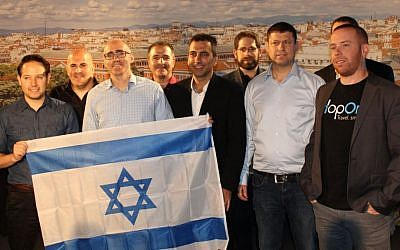 Shahar Friedman from Visa and the Israeli team. (Anthony Upton)