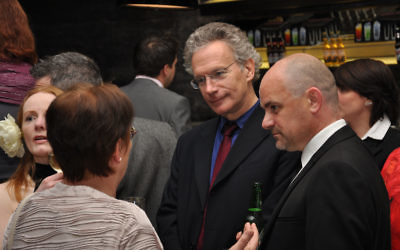 Fintan O'Toole, center, with Irish politicians in 2010. (CC-SA-2.0 Flickr/Neil Ward)