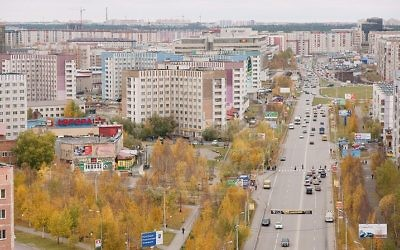 A view of Surgut, Russia, in 2009 (CC-BY SA Mariluna/Wikipedia)