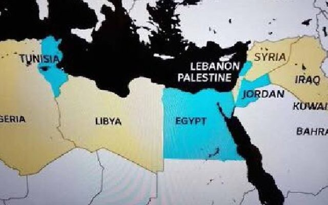 ABC News Australia graphic with Palestine and no Israel (ABC screenshot)