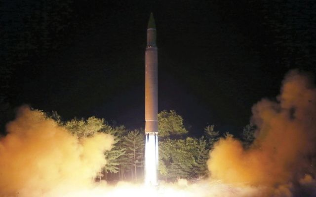 In this July 28, 2017, file photo distributed by the North Korean government on Saturday, July 29, 2017, shows what was said to be the launch of a Hwasong-14 intercontinental ballistic missile at an undisclosed location in North Korea. (Korean Central News Agency/Korea News Service via AP, File)