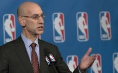 In this Oct. 21, 2016, file photo, NBA Commissioner Adam Silver speaks to reporters during a news conference, in New York. (AP Photo/Mary Altaffer, File)