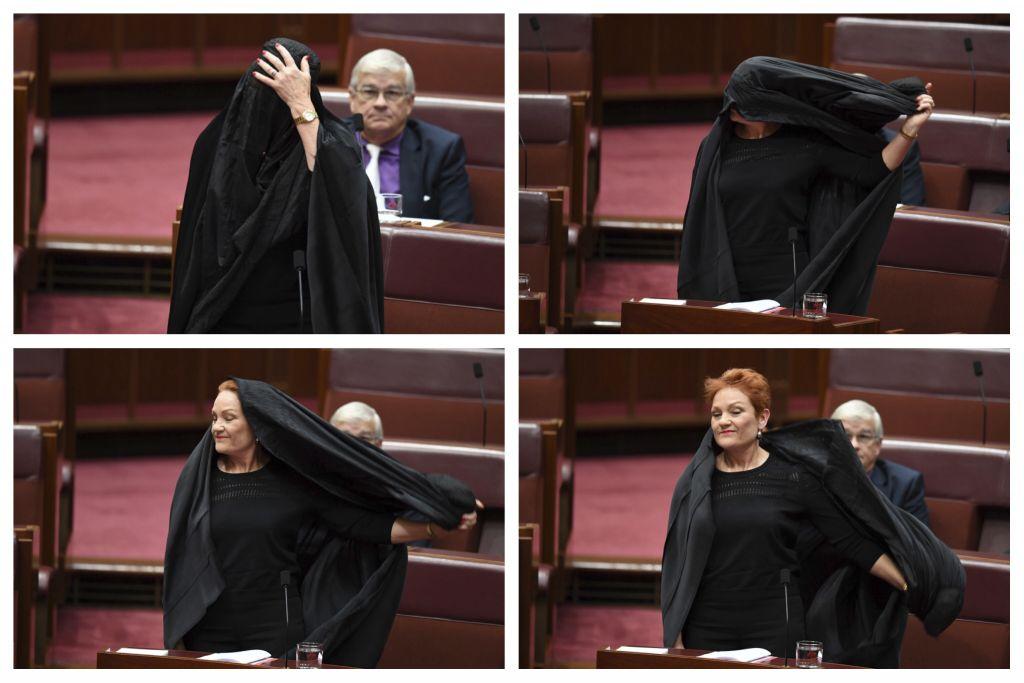 Anti-Muslim Aussie senator wears burqa in Parliament | The