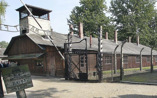 This photo from July 29, 2016, shows the gate of the former German Nazi death camp of Auschwitz in Oswiecim, Poland. (AP Photo/Czarek Sokolowski)