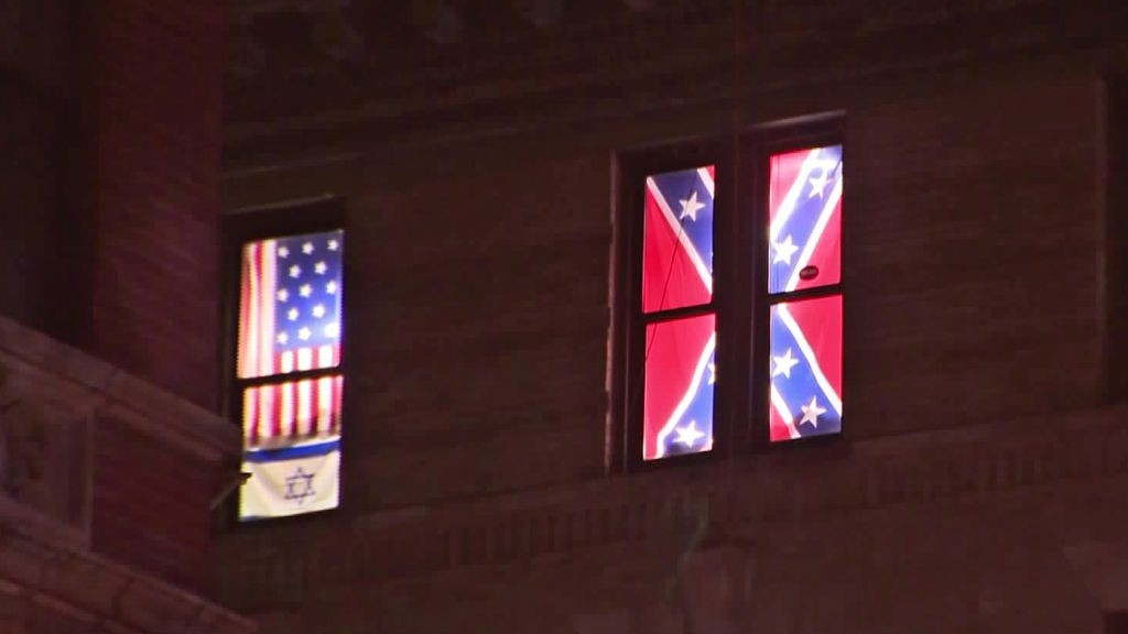 After rocks and rage, Confederate, Israeli flags vanish from NYC
