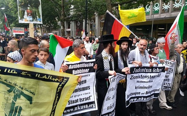 Al-Quds Day Parade in Berlin, 2014. (CC BY-SA Denis Barthel, Wikimedia Commons)