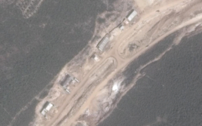 Buildings at a site near the northern Syrian city of Banias that are reportedly part of an Iranian missile factory under construction. (Screen capture: Google Maps)