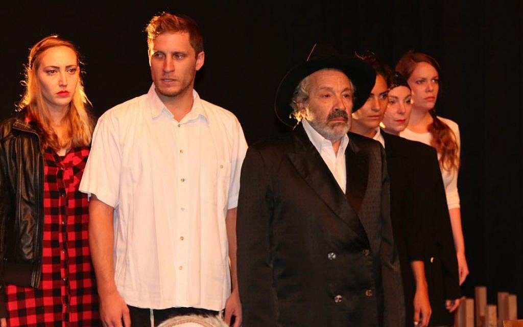 The Jerusalem Theater Group during a performance of 'Good Intentions.' (Shmuel Bar-Am)