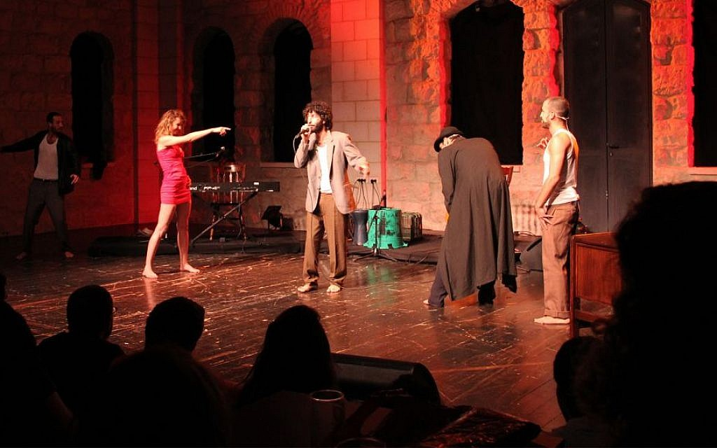 A performance of 'This City' hosted by Beit Mazia. (Gaya Turtle)