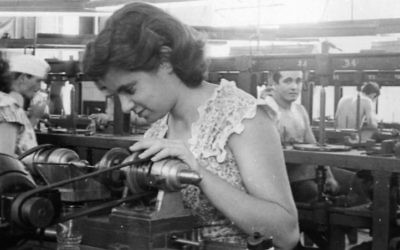 Family photos of working in the diamond-polishing factories of Havana from the documentary 'Cuba's Forgotten Jewels.' (Courtesy)