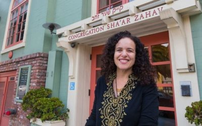 Rabbi Mychal Copeland took over as spiritual leader of Congregation Sha'ar Zahav in July. (Norm Levin/J. The Jewish News of Northern California/via JTA)