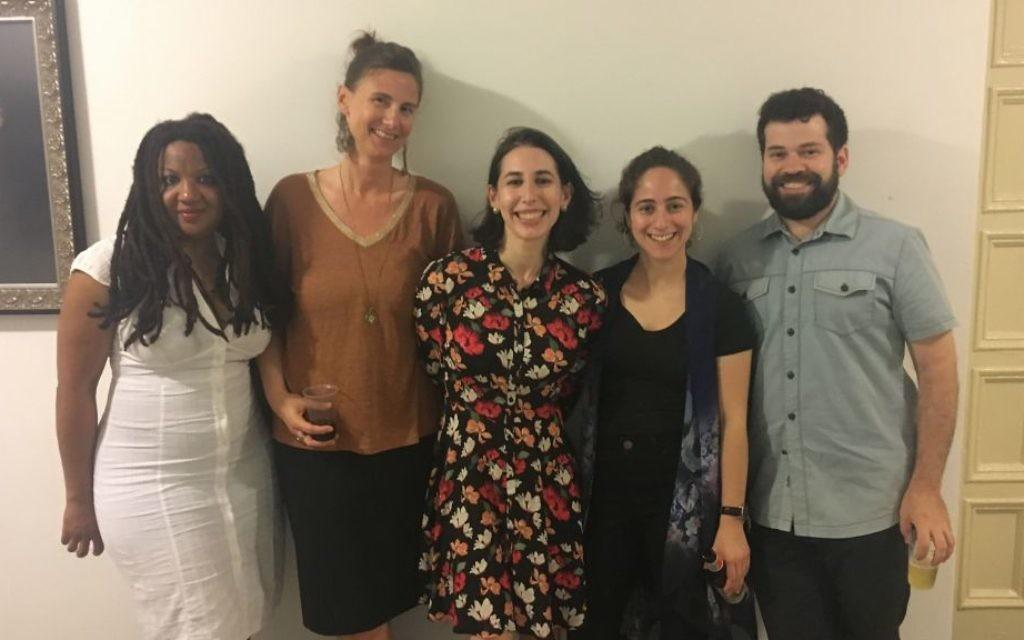 Shir HaMaalot participants after Friday night services in Brooklyn, July 14, 2017. (Josefin Dolsten/JTA)