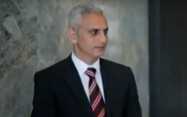Al Jazeera Israel correspondent Elias Karram in a 2016 interview. (Screen capture: YouTube)