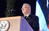 President Reuven RIvlin attends US Independence Day celebrations at the US ambassador to Israel's residence in Herzliya on June 30, 2016. (Mark Neyman/GPO/Flash90)