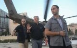 Benjamin Netanyahu walks out of a helicopter  in Jerusalem on July 20, 2016. (Marc Israel Sellem/POOL)