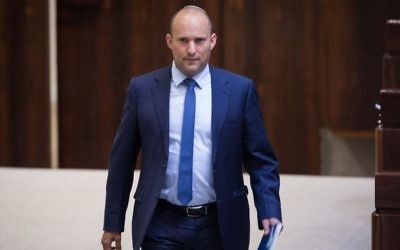 Education Minister Naftali Bennett seen at the Knesset on July 26, 2017. (Hadas Parush/Flash90)