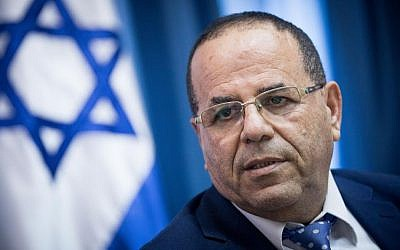 Communications Minister Ayoub Kara speaks at a press conference about the Communications Ministry's move to shut down the Jerusalem office of Al Jazeera on August 6, 2017. (Yonatan Sindel/Flash90)