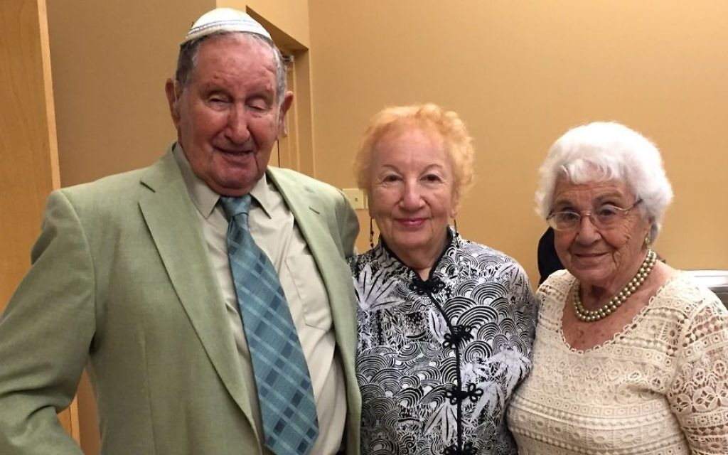 Hans Wolfermann, Bunny, and Anne in 2015 at the bar mitzvah of a great-grandson. (Steve North)