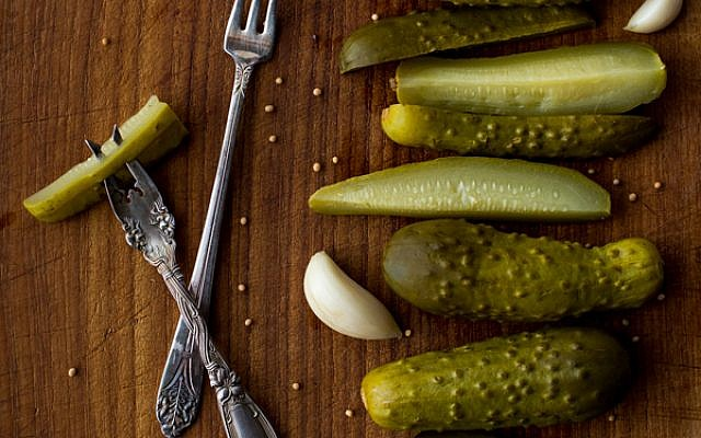 Fermented dill pickles from 'The Joys of Jewish Preserving,' by Emily Paster. (Courtesy)
