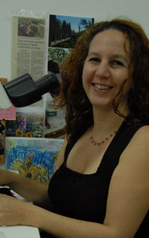 Prof. Dafna Langgut is the head of the archaeobotany lab at Tel Aviv University. (courtesy)