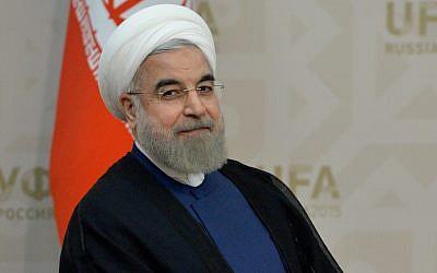 Iranian President Hassan Rouhani. (Alexey Kudenko/Getty Images)