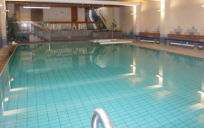 The pool at the Paradies Arosa hotel (Screenshot from Paradies Arosa/JTA)