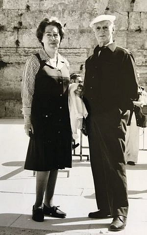 Fritzi and Otto in Jerusalem, 1967. (Courtesy)