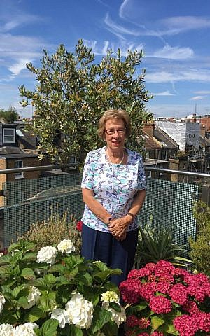 Eva Schloss at home in London, 2017. (Courtesy)