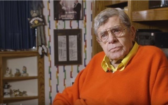 Jerry Lewis gives an interview to the Hollywood Reporter on December 21, 2016. (screen capture: YouTube)