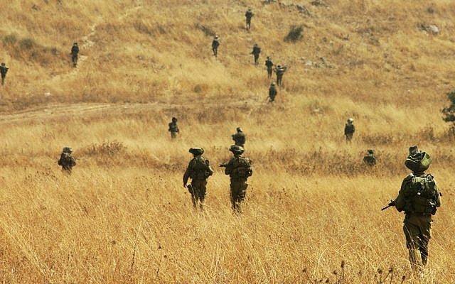 Illustrative photo of IDF soldiers on the Golan Heights, Northern Israel, July 4 2007. (IDF Spokesperson/Flash90)