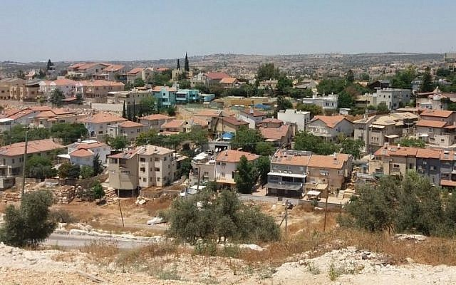The Eli settlement in the central West Bank (Courtesy: Dror Etkes)