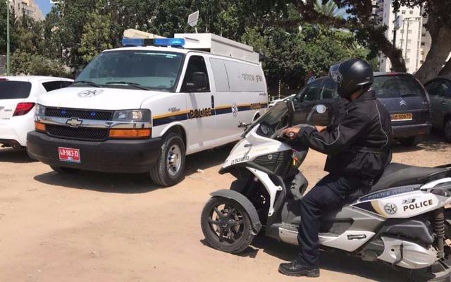 Illustrative: Police in Ashkelon, August 27, 2017. (Israel Police)