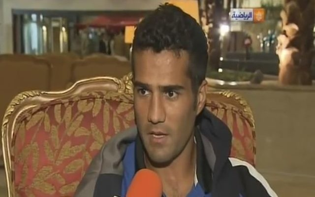 Iranian soccer player Masoud Shojaei. (Screen capture: YouTube )