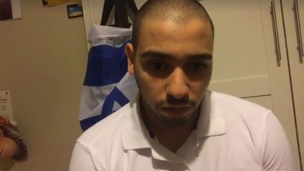 Elor Azaria in a live online broadcast, his first public comments about his trial and sentencing, on August 3, 2017. (Facebook)
