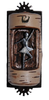 A ballet dancer mezuzah case by Ric von Neumann. (Courtesy/Libby von Neumann)