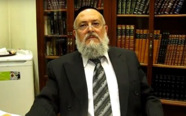 Barcelona chief Rabbi Meir Bar Hen. (Screen capture YouTube.com)