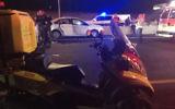 Illustrative: Medics and police at the scene of a car crash, July 2017 (Magen David Adom)