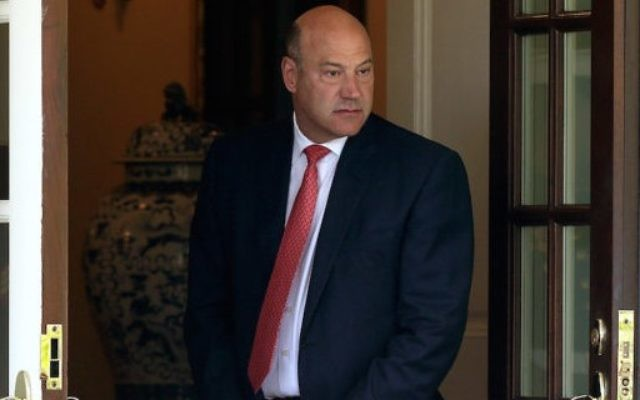 Gary Cohn at the entrance of the West Wing of the White House, June 9, 2017. (Alex Wong/Getty Images/JTA)